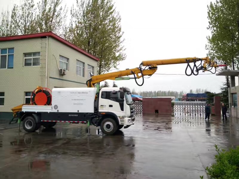 Working principle and features of truck-mounted shotcrete machine with double nozzles