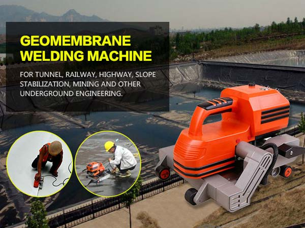 Geomembrane automatic hot wedge welder